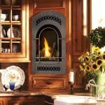 Bed and Breakfast TRV Deluxe – Beauty & Warmth of a Fire Compressed into a Tall Portrait-Style Fireplace